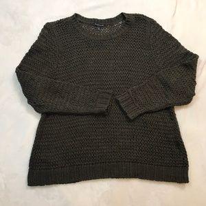 Eileen Fisher Openweave Brown Sweater XL